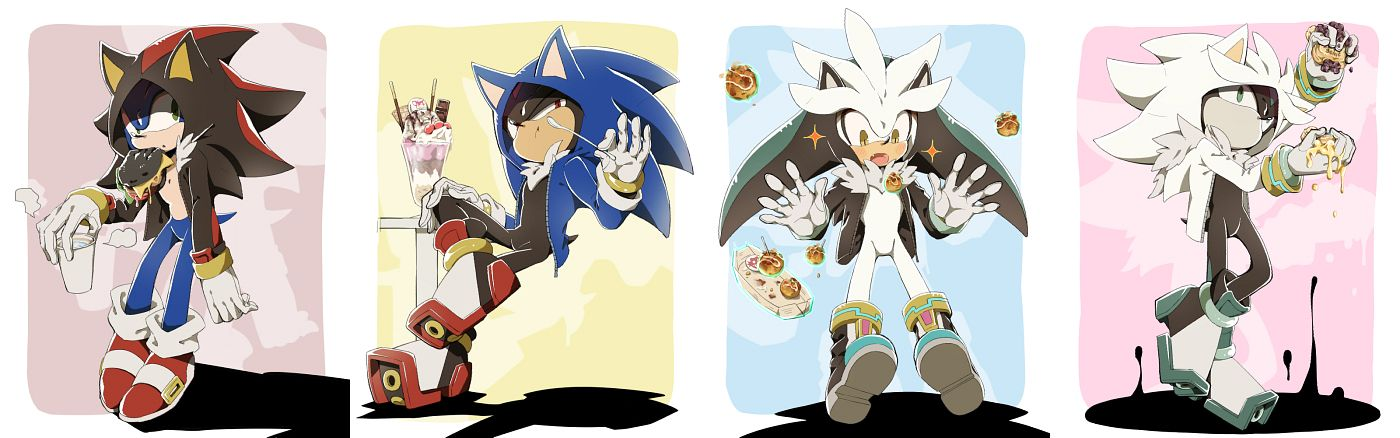 Tags: Anime, Pixiv Id 9368242, Sonic the Hedgehog, Sonic the Hedgehog (Character), Mephiles the Dark, Silver the Hedgehog, Shadow the Hedgehog, Mephiles The Dark (Cosplay), Fast Food, Shadow The Hedgehog (Cosplay), Sonic the Hedgehog (Cosplay), Silver The Hedgehog (Cosplay), Fanart From Pixiv