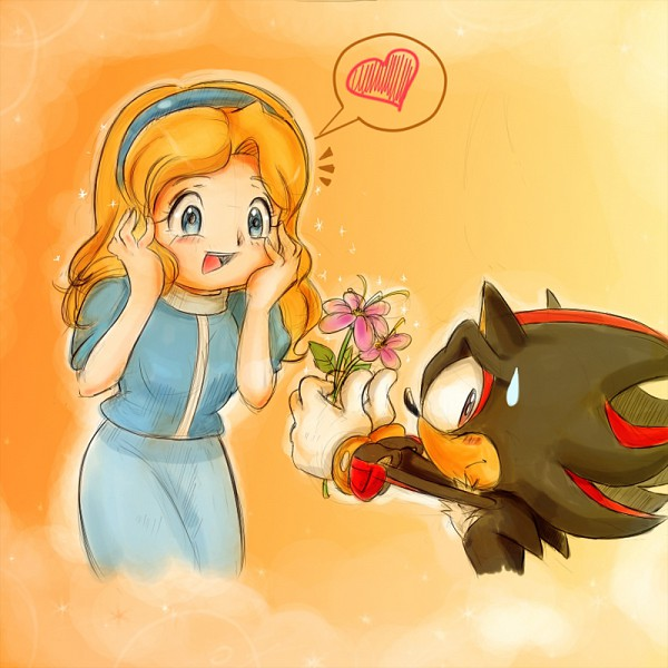 Tags: Anime, Missyuna, Sonic the Hedgehog, Maria Robotnik, Shadow the Hedgehog, Daisy (Flower), Fanart, Fanart From DeviantART, deviantART
