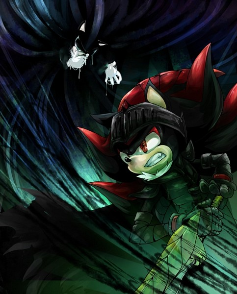 Tags: Anime, Aimf, Sonic the Hedgehog, Shadow the Hedgehog, Mephiles the Dark, Pixiv, Fanart From Pixiv, Fanart