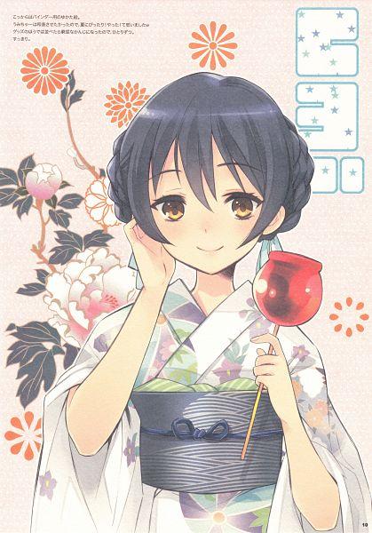 Tags: Anime, Ito Noizi, Love Live!, Natsuiro Distortion, Sonoda Umi, Candy Apple, Mobile Wallpaper, Comic Market 86, Comic Market, Scan, Umi Sonoda