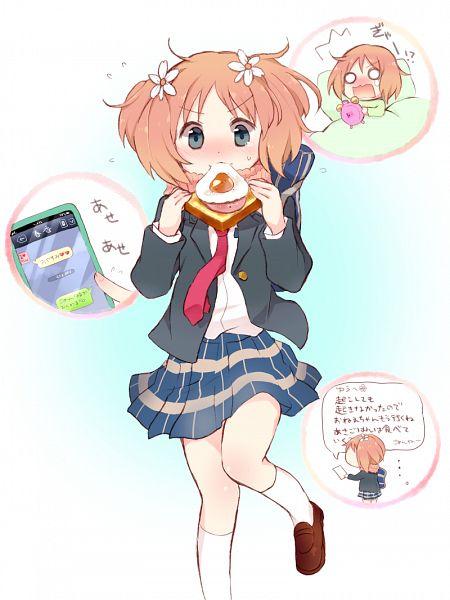 Tags: Anime, Tarabagani, Sakura Trick, Sonoda Yuu, Breakfast, Sandwich, PNG Conversion