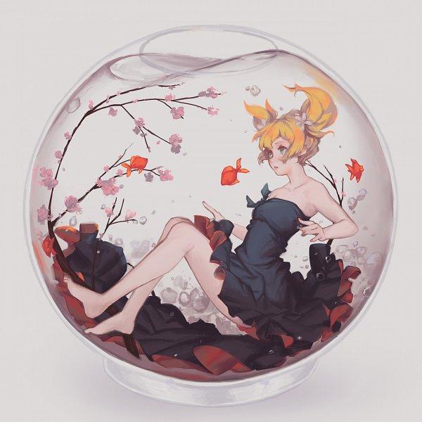 Tags: Anime, softmode, Sakura Trick, Sonoda Yuu, Fish Bowl, In a Bowl, deviantART