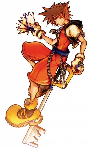 Tags: Anime, Nomura Tetsuya, Kingdom Hearts, Sora (Kingdom Hearts), Keyblade, Mobile Wallpaper