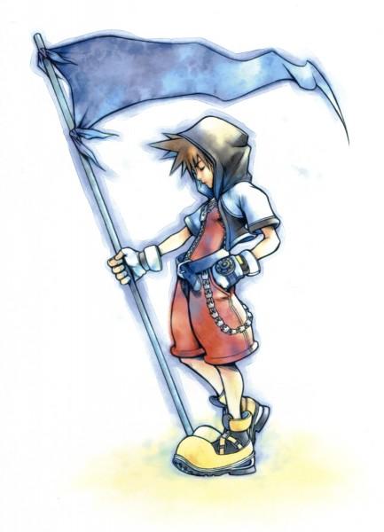 Tags: Anime, Nomura Tetsuya, SQUARE ENIX, Kingdom Hearts, Sora (Kingdom Hearts), Yellow Footwear, Mobile Wallpaper, Official Art