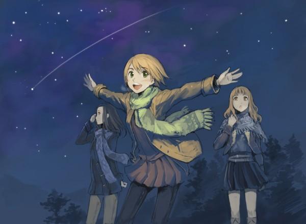 Tags: Anime, Kashiwabara Mami, Tko, Sora no Manimani, Makita Hime, Akeno Mihoshi, Yarai Sayo, At The Mercy Of The Sky