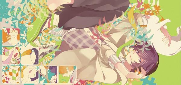 Tags: Anime, MACCO, Soraru, Facebook Cover, Fanart, Nico Nico Singer, Pixiv