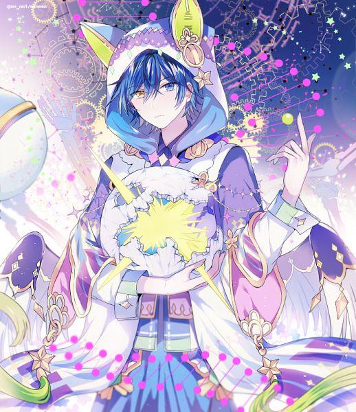 Tags: Anime, Pixiv Id 10471140, Soraru, Skeleton Arm, Nico Nico Singer, Pixiv, Fanart From Pixiv, Fanart, Biidama no Naka no Uchuu, PNG Conversion, Twitter