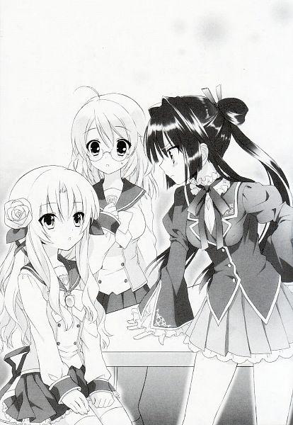 Tags: Anime, Sakura Neko, Sore ga Ruuru no Irregular, Koharu Ai, Minato Ruuru, Mitsurugi Kotono, Novel Illustration, Official Art, Scan