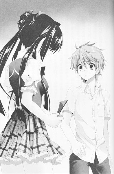 Tags: Anime, Sakura Neko, Sore ga Ruuru no Irregular, Inukai Tamaki, Mitsurugi Kotono, Novel Illustration, Official Art, Scan