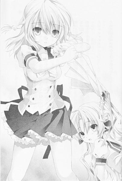 Tags: Anime, Sakura Neko, Sore ga Ruuru no Irregular, Koharu Ai, Minato Ruuru, Official Art, Scan, Novel Illustration