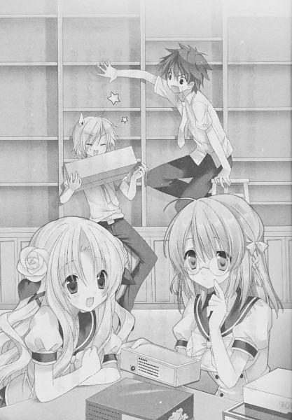 Tags: Anime, Sakura Neko, Sore ga Ruuru no Irregular, Usui Keiji, Koharu Ai, Inukai Tamaki, Minato Ruuru, Novel Illustration, Official Art, Scan