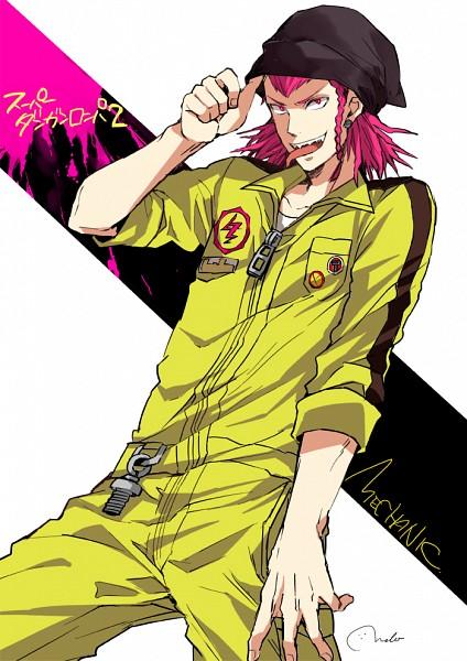Tags: Anime, MELO (Pixiv3603676), Super Danganronpa 2, Souda Kazuichi, Mobile Wallpaper, Pixiv, Fanart, Fanart From Pixiv