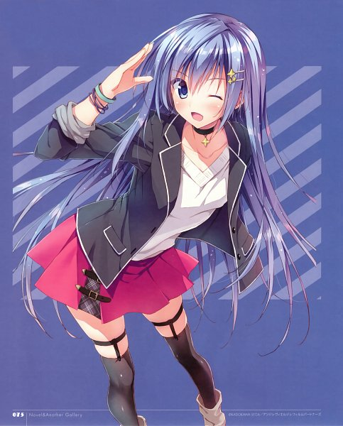 Tags: Anime, Ryohka, Ange Vierge, Kurimi, Sougetsu Saya, Official Art, Scan