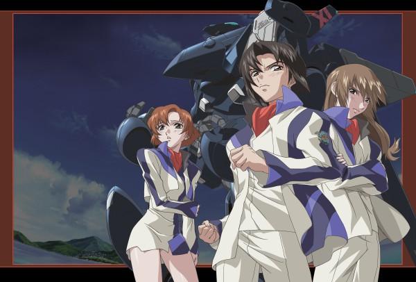Tags: Anime, Hirai Hisashi, Soukyuu no Fafner, Makabe Kazuki, Minashiro Soushi, Toomi Maya, PNG Conversion, Fafner Of The Blue Sky