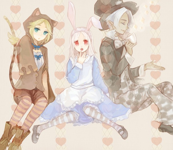 Tags: Anime, YuJuP, Alice in Wonderland, Eien no Shounen, Lost-ko, Elice, Alice (Alice in Wonderland) (Cosplay), Cheshire Cat (Cosplay), Mad Hatter (Cosplay), White Rabbit (Cosplay), Lost (Sound Horizon), Elysion (Sound Horizon), Sound Horizon