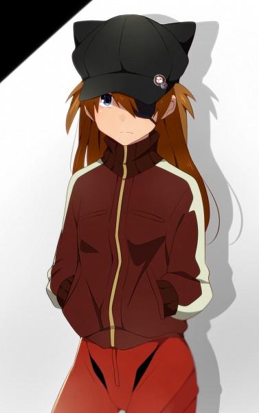 Tags: Anime, Eikichi (Yukiti09), Neon Genesis Evangelion, Souryuu Asuka Langley, Cat Hat, Fanart From Pixiv, Fanart, Pixiv, Asuka Langley Soryu