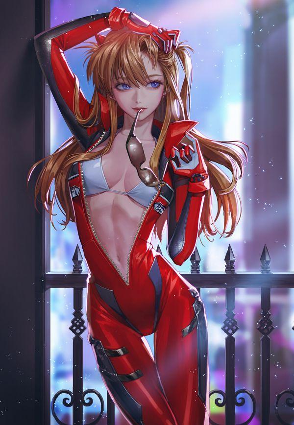 Tags: Anime, Pixiv Id 32340301, Neon Genesis Evangelion, Souryuu Asuka Langley, Pixiv, Revision, Fanart, Fanart From Pixiv