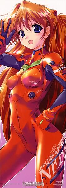 Tags: Anime, Komatsu Eji, Gainax, Neon Genesis Evangelion, Souryuu Asuka Langley, Official Art, Scan, Asuka Langley Soryu