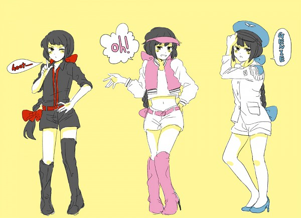 Tags: Anime, Kokochi (Pixiv 114635), Axis Powers: Hetalia, SNSD (Parody), K-pop, Nyotalia, Asian Countries