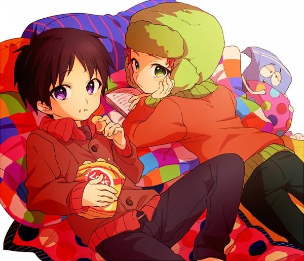 Tags: Anime, Blue21, South Park, Kyle Broflovski, Stanley Randall Marsh, Chips, Fanart, Fanart From Pixiv, Pixiv