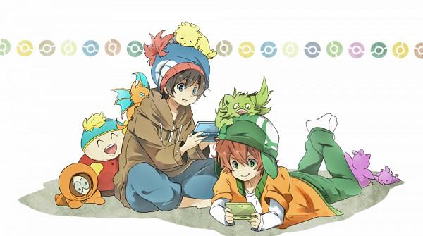 Tags: Anime, South Park, Kenneth McCormick, Stanley Randall Marsh, Eric Theodore Cartman, Kyle Broflovski, Nintendo DS, Facebook Cover, Artist Request, Team Stan
