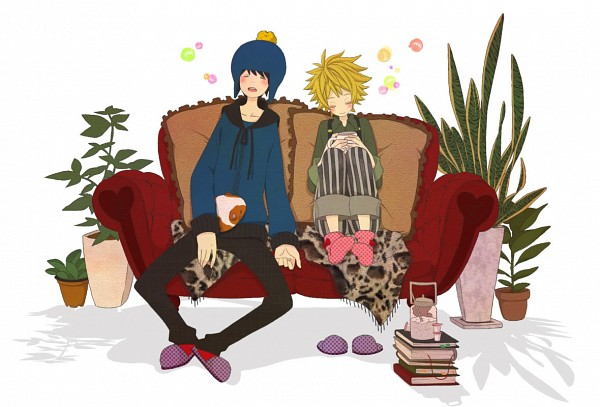 Tags: Anime, Atori (Pixiv1630387), South Park, Craig Tucker, Tweek Tweak, Stripe (South Park), Guinea Pig, Pixiv, Fanart