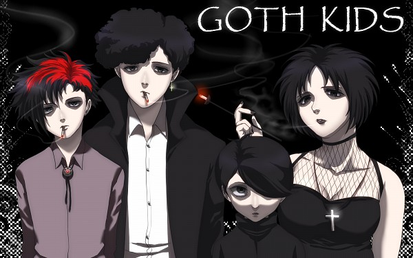 Tags: Anime, South Park, Firkle, Henrietta Biggle, Michael (South Park), Pete (South Park), Wallpaper, Goth Kids