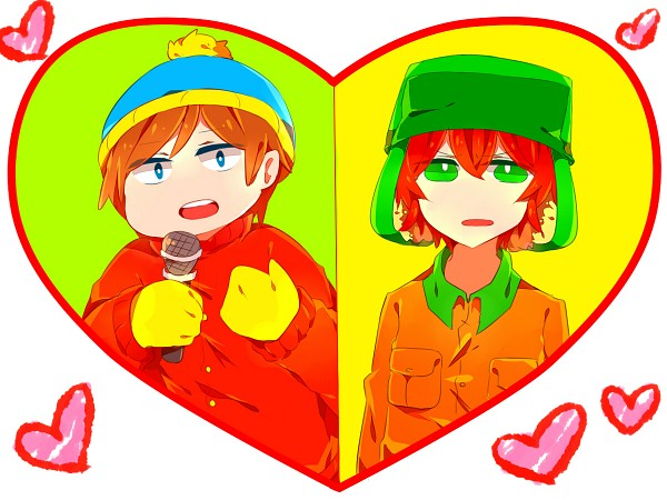 Tags: Anime, Pixiv Id 4763976, South Park, Kyle Broflovski, Eric Theodore Cartman, Scene Reference, Orange Outerwear, Pixiv, Fanart From Pixiv, Wallpaper, Fanart, Kyman