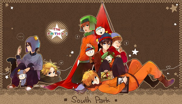 Tags: Anime, South Park, Stanley Randall Marsh, Eric Theodore Cartman, Kyle Broflovski, Marjorine, Leopold Stotch, Craig Tucker, Kenneth McCormick, Tweek Tweak, Artist Request