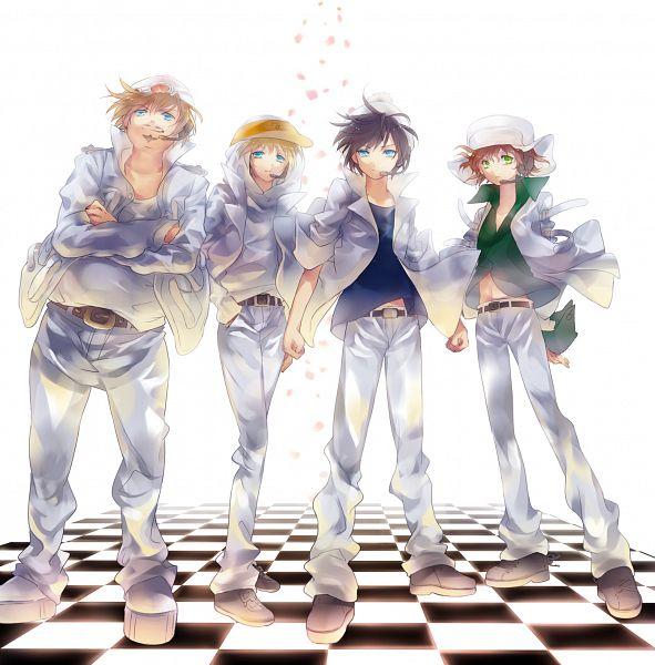 Tags: Anime, Saru (Pixiv1267140), South Park, Kyle Broflovski, Kenneth McCormick, Stanley Randall Marsh, Eric Theodore Cartman, Team Stan