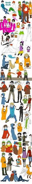 Tags: Anime, South Park, Ike Broflovski, Craig Tucker, Mole (South Park), Phillip Pirrup, Clyde Donovan, Tweek Tweak, Damien Thorn, Kenneth McCormick, Gregory, Wendy Testaburger, Jesus