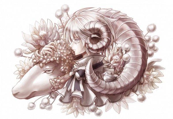 Tags: Anime, Souya Touki, Caressing, Aries, Lace Trim, Facebook Cover, Zodiac, Tumblr, Original