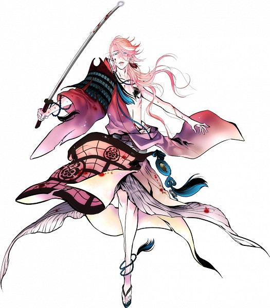 Tags: Anime, Suzuki Jirou, Nitro+, Touken Ranbu, Souza Samonji, Uchigatana, PNG Conversion, Official Art, Cover Image