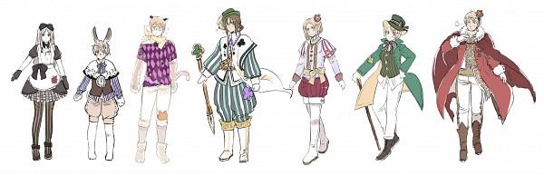 Tags: Anime, Himaruya Hidekaz, Axis Powers: Hetalia, Alice in Wonderland, Poland, Estonia, Latvia, Belarus, Lithuania, Ukraine, Russia, Alice (Alice in Wonderland) (Cosplay), Mad Hatter (Cosplay)