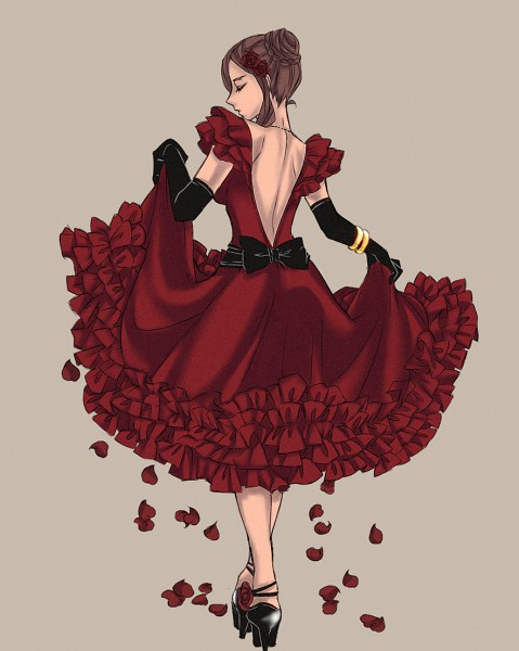 Tags: Anime, Pixiv Id 3812705, Axis Powers: Hetalia, Spain (Female), Flamenco, Nyotalia
