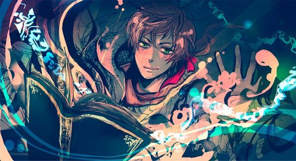 Tags: Anime, Hemiko, Axis Powers: Hetalia, Hetaoni, Spain, Magical Blocks, Fanart, Facebook Cover, Pixiv, PNG Conversion