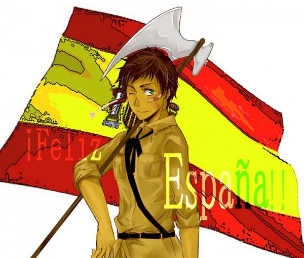 Tags: Anime, Axis Powers: Hetalia, Spain, Pflaster, Flag Background
