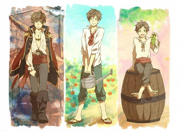 Tags: Anime, Mitta (332802), Axis Powers: Hetalia, Spain, Watering Can, Fanart, Pixiv, Mediterranean Countries