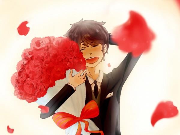 Tags: Anime, Shirakawa (Pixiv2179440), Axis Powers: Hetalia, Spain, Carnation, Fanart, Pixiv, Mediterranean Countries