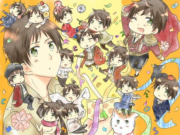 Tags: Anime, Pixiv Id 2849209, Axis Powers: Hetalia, Spain, Paul The Octopus, Cooking Pan, Octopus, Hitsuji de Oyasumi, Fanart, Gakuen Hetalia, Pixiv, Nekotalia, Mediterranean Countries
