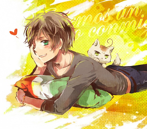 Tags: Anime, Bubblehour, Axis Powers: Hetalia, Spain, South Italy, South Italy Cat, Nekotalia, Pixiv, Mediterranean Countries