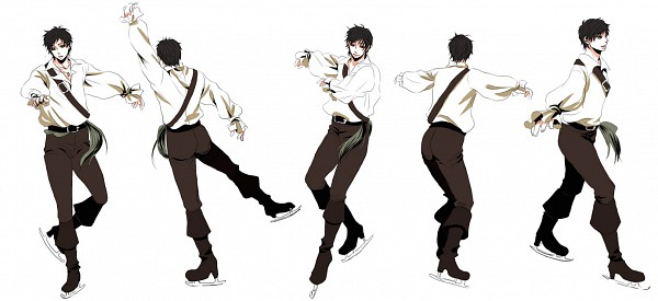 Tags: Anime, Pixiv Id 265080, Axis Powers: Hetalia, Spain, Chronophotography, Figure Skating, Ice Skating, Fanart, Facebook Cover