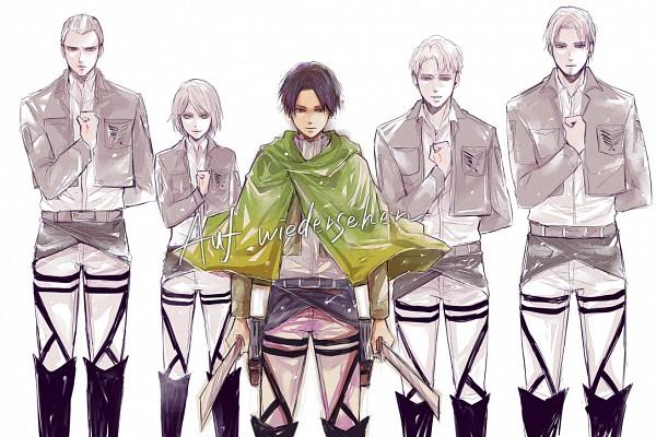 Tags: Anime, Furusawa Eno, Attack on Titan, Petra Ral, Levi Ackerman, Gunter Schulz, Auruo Bossard, Erd Gin, Pixiv, Fanart, Fanart From Pixiv, Special Operations Squad