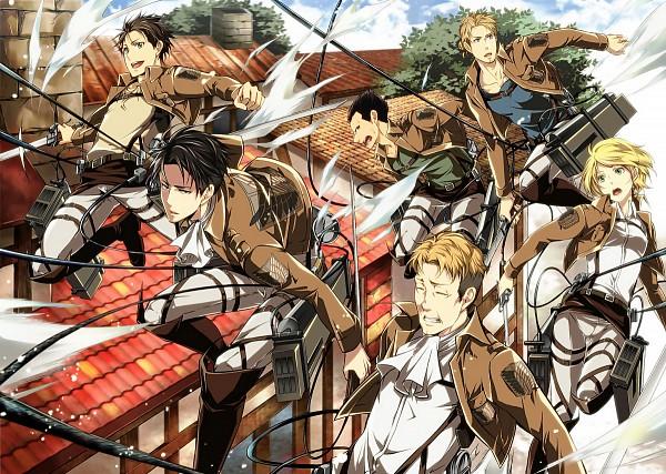 Tags: Anime, Kenta Shibao, Attack on Titan, Petra Ral, Eren Jaeger, Gunter Schulz, Levi Ackerman, Auruo Bossard, Erd Gin, Fanart From Pixiv, Pixiv, Fanart, Special Operations Squad