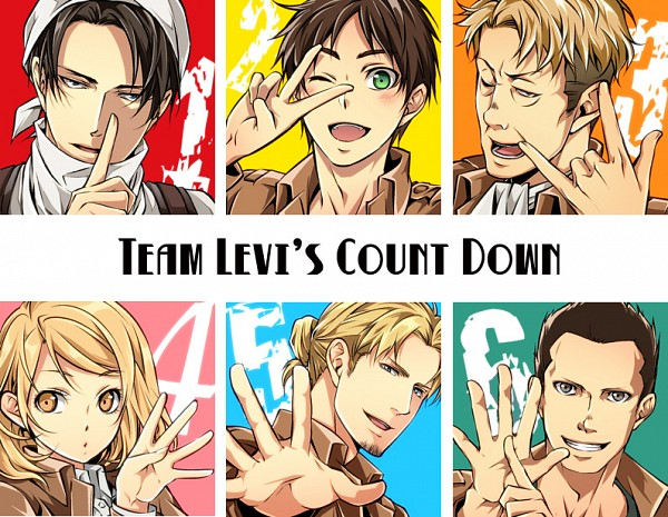 Tags: Anime, Kenta Shibao, Attack on Titan, Erd Gin, Petra Ral, Eren Jaeger, Gunter Schulz, Levi Ackerman, Auruo Bossard, Pixiv, Special Operations Squad