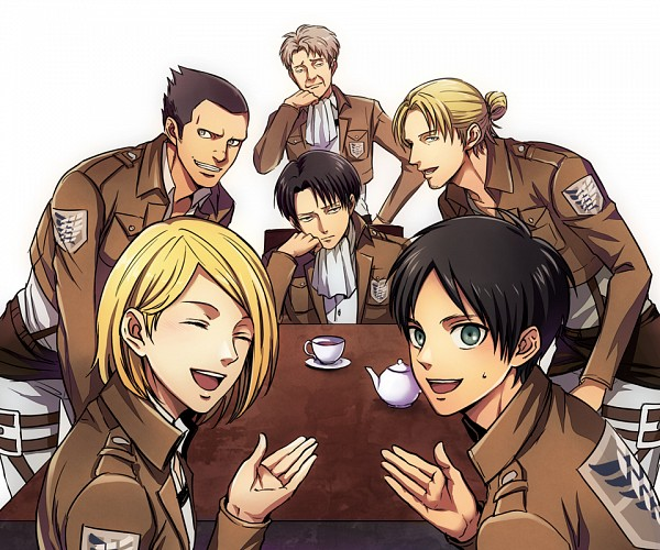Tags: Anime, Pixiv Id 7165532, Attack on Titan, Petra Ral, Eren Jaeger, Gunter Schulz, Levi Ackerman, Auruo Bossard, Erd Gin, Fanart From Pixiv, Pixiv, Fanart, Special Operations Squad