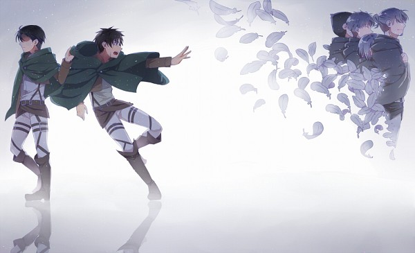 Tags: Anime, Fumio (Kanmi), Attack on Titan, Erd Gin, Petra Ral, Eren Jaeger, Gunter Schulz, Levi Ackerman, Auruo Bossard, Disappearing, Fanart From Pixiv, Pixiv, Fanart