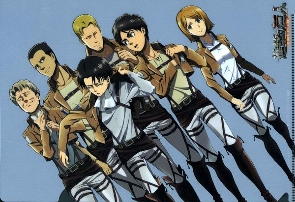 Tags: Anime, Tomita Megumi, WIT STUDIO, Attack on Titan, Gunter Schulz, Levi Ackerman, Auruo Bossard, Erd Gin, Petra Ral, Eren Jaeger, Official Art, Scan, Special Operations Squad