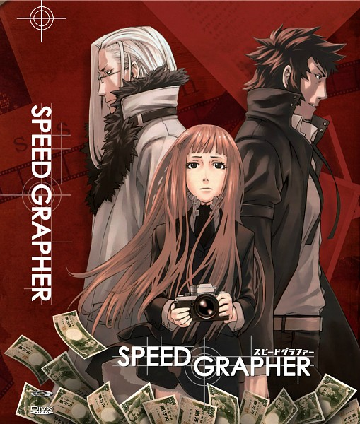 Tags: Anime, Kozaki Yuusuke, Speed Grapher, Tatsumi Saiga, Kagura Tennōzu, Official Art