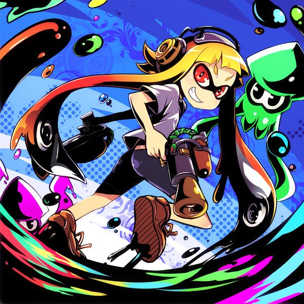 Tags: Anime, Drpow, Splatoon, Inkling (Squid), Inkling (Splatoon), Squid, Fanart From Pixiv, Fanart, PNG Conversion, Pixiv